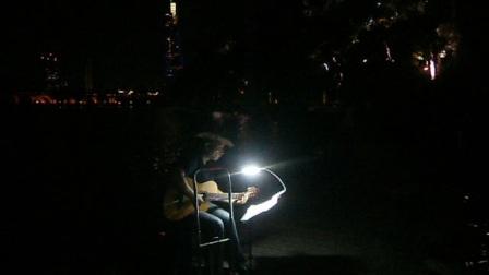 170718TUE 吉他指弹练习 TONY大叔 环洲 月季园 湖畔木道 玄武湖 南京 (7)