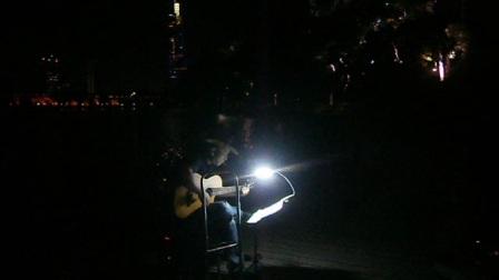 170718TUE 吉他指弹练习 TONY大叔 环洲 月季园 湖畔木道 玄武湖 南京 (8)