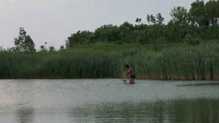 喵匠品牌店 户外捕鱼 鱼获视频 起网视频 教学 三层渔网