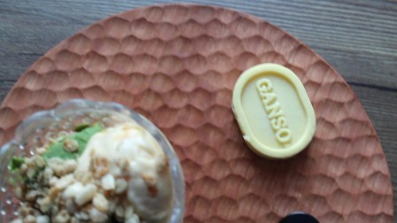 抹茶冰淇淋、杏仁酱冰淇淋 (自己做的)