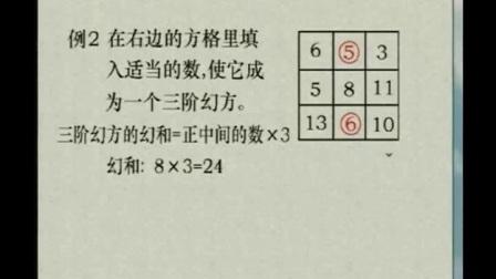 奥数精讲三年级【全12讲】 幻方和数阵图