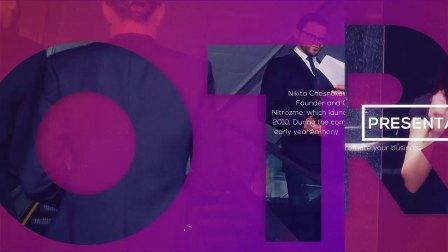 AE模板:企业公司文字遮罩平面动画演示宣传片 Corporate Promo
