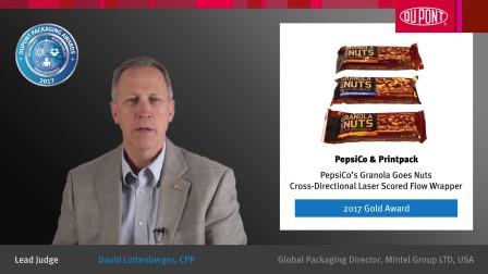 针对含坚果格兰诺拉燕麦卷全方位激光刻印枕式包装机 - 2017金奖得主