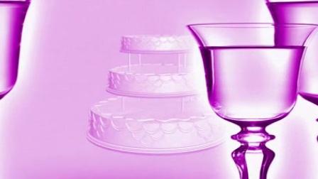 L6185-豪华生日婚礼酒杯滑动旋转蛋糕动态LED视频素材