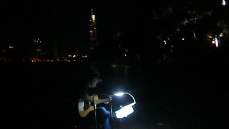 170720THU 吉他指弹练习 TONY大叔 环洲 月季园 湖畔木道 玄武湖 南京 (5)