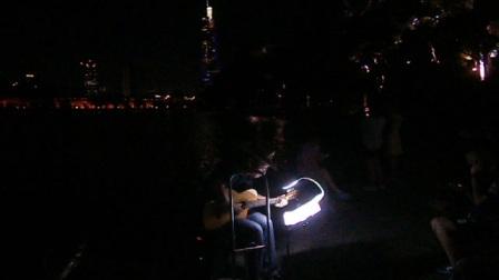 170718TUE 吉他指弹练习 TONY大叔 环洲 月季园 湖畔木道 玄武湖 南京 (6)