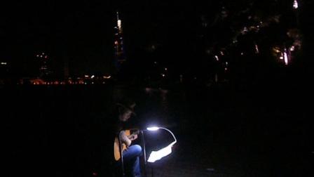 170720THU 吉他指弹练习 TONY大叔 环洲 月季园 湖畔木道 玄武湖 南京 (6)