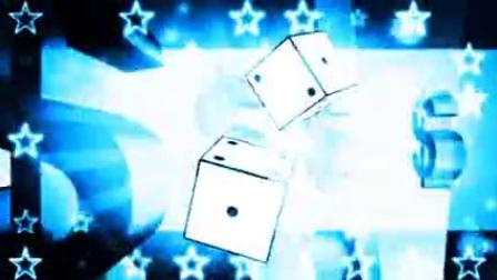 L6281-创意魔幻光效骰子美元符号转动星星闪闪魔