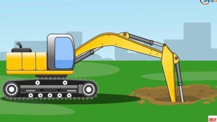汽车总动员 挖掘机工作视频表演 小汽车 土方车狂飙,交通事故频频发生,警车大追捕