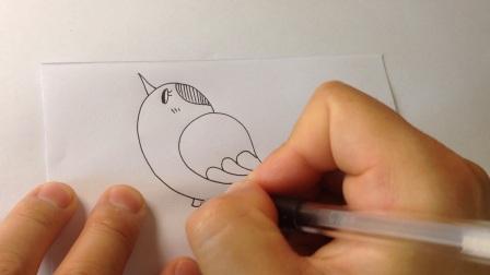 儿童简笔画系列.小鸟的画法