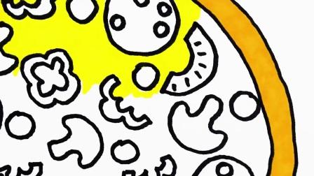 如何给孩子们画披萨,尽情享用美食吧,料理鼠王