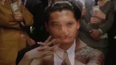 发哥经典片段, 在小日本面前秀赌技, 美女不服还脱下衣服