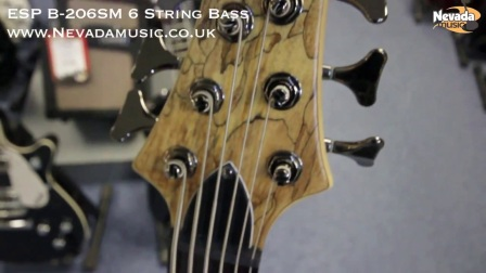 ESP B-206 SM Spalted Maple 6 String Bass - Quick Look
