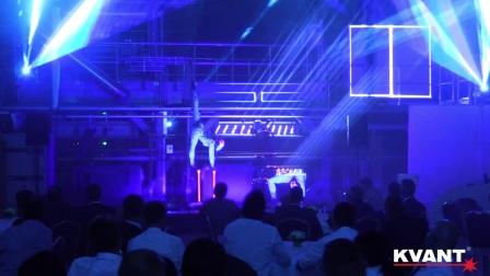Laser beam show & laser mapping - Adler Pelzer corporate event, Bratislava 2017