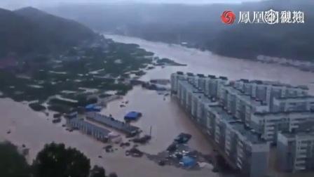 陕西子洲绥德一带水库决堤 洪水围城