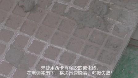 西卡瓷砖背涂胶实用破坏对比