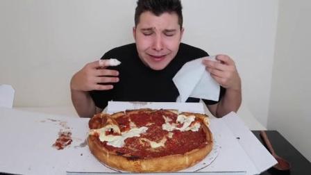 【吃播-Nikocado Avocado】超多芝士的深盘披萨、超辣鸡翅挑战