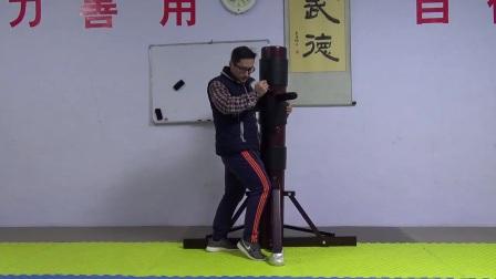 形意拳的钻拳的训练方法木人桩