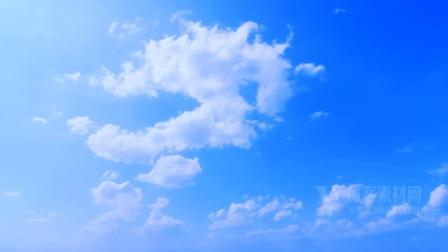B1208深蓝色的天空 - 云彩