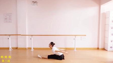 中国舞蹈家协会考级教材(第四版新教材)张暾舞蹈第三级3-3鹅鹅鹅(腿的柔韧练习)