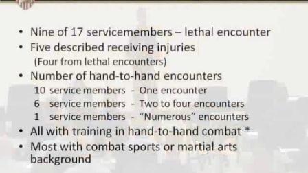 """西点军校Peter Jensen博士研讨会Combatives Symposium 2012,主题:""""战斗还是逃跑?逃跑不是可选项。""""---军事徒手格斗研究"""