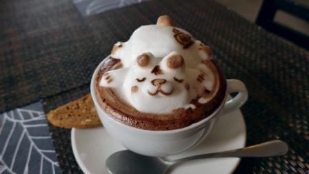 可爱的3D咖啡艺术 - 马来西亚槟城咖啡绘图:熊猫,猫,狮子,熊
