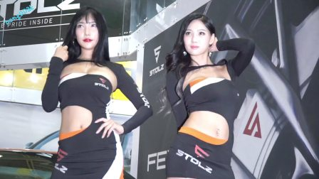 170713-16 2017 首尔汽车沙龙 韩国美女模特 车模 尹樱桃 金智熙(2