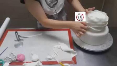生日蛋糕做法超美翻糖花蛋糕蛋糕甜心