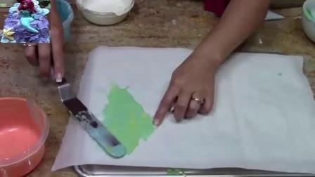 蓝色妖姬翻糖蛋糕美人鱼蛋糕彩虹蛋糕