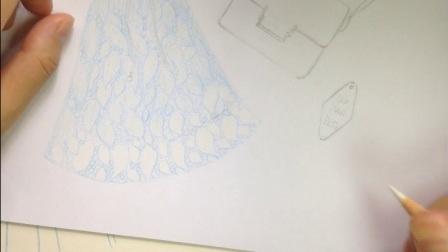 《蕾丝连衣裙》彩铅视频教程