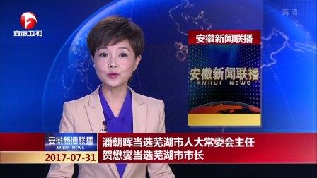 潘朝晖当选芜湖市人大常委会主任  贺懋燮当选芜湖市市长  安徽新闻联播 170731