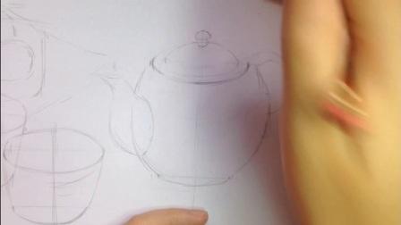 小清新茶具 彩铅教程