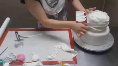 用电饭煲怎么做蛋糕超美翻糖花蛋糕彩虹蛋糕