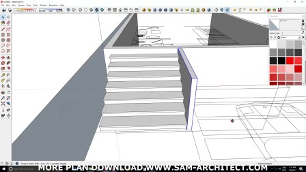 SketchUp Small Home Design Plan 6x10m