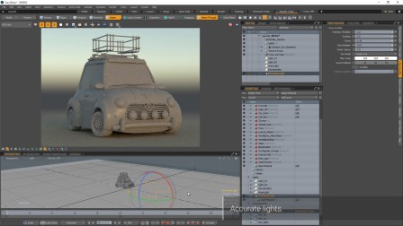 V-Ray 3 for MODO - Accurate lights 准确的灯光