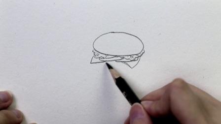 河小象趣味简笔画——汉堡包