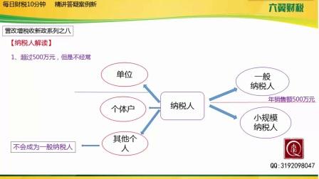 【初级会计职称考试】纳税人解读主讲:秦梁红
