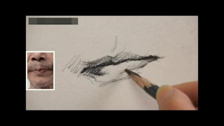 零基础学素描视频于小东油画教程,初学者速写教程视频,静物素描教程土豆视频素描静物