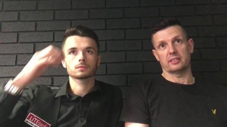彼特和莱恩斯在欧洲大师赛胜利的采访
