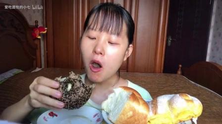 『吃播』面包~星巴克双芝贝果·元祖虎皮卷·格意南瓜软欧·桃李焙软吐司·桃李豆沙包_美食圈_生活