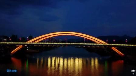 航拍01-广西贺州二桥(大疆御首次夜飞)