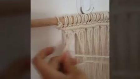 棉绳坐垫的编制教程