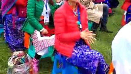 中国甘南碌曲第六届锅庄舞大赛现场自拍视频
