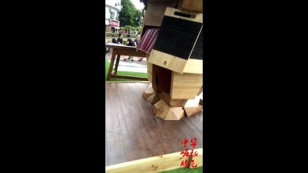 部落冲突五周年上海皮卡电磁塔户外展览