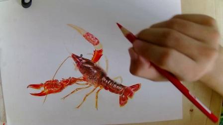 彩铅教程 龙虾5