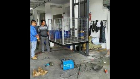 单轨液压货梯家用小电梯仓库工厂电梯视频