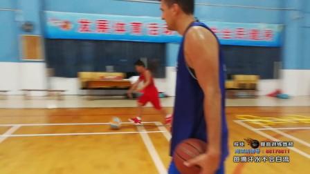 最新欧洲美国篮球青少年综合训练 训练营必看  脚步 控球结合训练大迪花蝴蝶训练杆