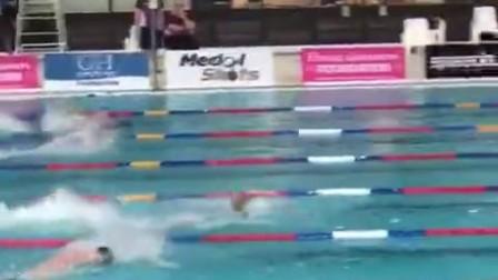 2017.8.19宁泽涛短池100自46秒14破亚洲纪录  从零开始学游泳