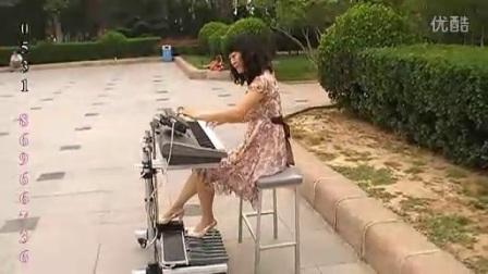 手风琴法奏双排三排键电子琴脚踏电子鼓 卡门_标清