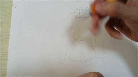 服装设计——款式图的画法二 做衣服 服装制作 设计
